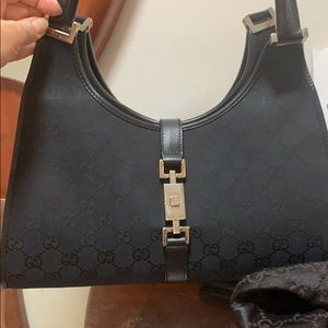 Gucci black bag with monogram